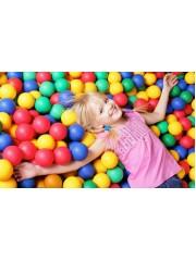 Jago24 100 DB játszóházi színes játék labda hálóban