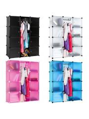 Jago24 8 fakkos variálható ruha szekrény, mobil gardrób, polc 00042