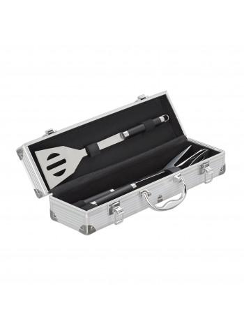Tsideen 3 részes nemesacél grill készlet hordozó táskával 10019132