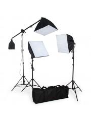 3 részes softbox fotóstúdió lámpa szett
