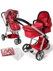 3in1 multifunkciós modern babakocsi piros