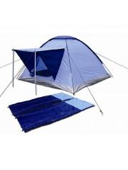 Tsideen Kemping szett - sátor, 2 alátét + 2 hálózsák 10019532