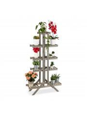 Alba lépcsős virágállvány (5 szintes) szürke