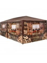 Jago24 Alpesi 6x3m pavilon, rendezvény sátor oldalfalakkal 00074