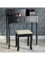 Arianna sminkasztal székkel fekete