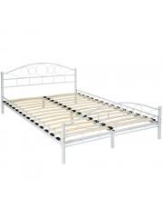 Audrey 140x200cm fém ágykeret ágyráccsal fehér