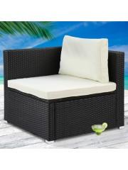 jago24 Avellaneda polyrattan kerti szék fotel fekete 00108