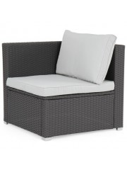 jago24 Avellaneda polyrattan kerti szék fotel szürke 00109