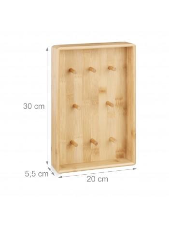 Bambusz kulcsakasztó kisszekrény