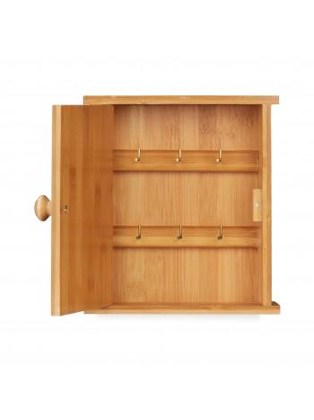 jago24 Bambusz kulcsakasztó kisszekrény ajtóval 00150