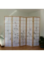 Bambusz mintás 5 részes térelválasztó paraván