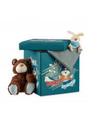 Jago24 Bear gyerek tárolós puff, ülőke 00189