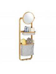 Beyla bambusz fürdőszoba tükör polccal