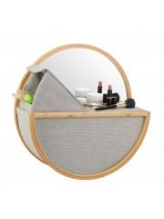 Charna bambusz fürdőszoba falitükör polccal