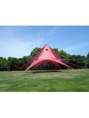 Csillag pavilon, fesztivál sátor 10m átmérővel