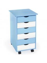 Diego gyermek gurulós komód,fiókos szekrény kék