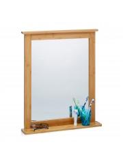Dipti bambusz fürdőszoba tükör polccal