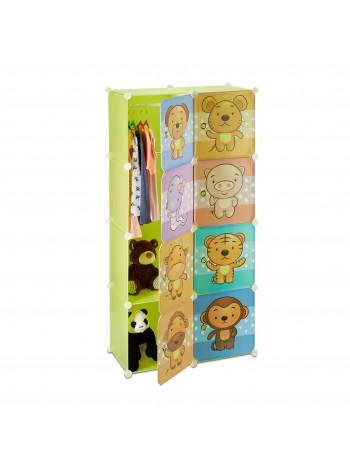 Jago24 Dönci gyerek mobil gardrób szekrény, játék tároló polc 00296