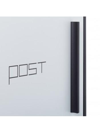 Jago24 Drogo fém kerti postaláda fekete-fehér 00304