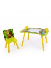 Jago24 Dzsungel 2 részes gyerek asztal és szék szett, rajzasztal 00321