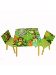 Jago24 Dzsungel 2 részes gyerek asztal és szék szett 00322