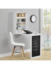 Fali összecsukható asztal, íróasztal fehér