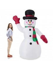 Felfújható LED-es hóember dekoráció 240 cm