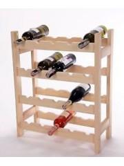 Fenyő borospolc 20 üveghez