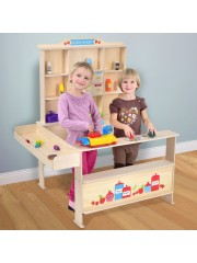 Gyermek játék vegyesbolt kiszolgáló pulttal