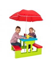 Gyermek kerti asztal szett napernyővel
