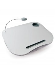 Hida mobil laptop tartó beépített lámpával szürke