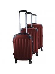 Holiday 3 részes bőrönd szett barna