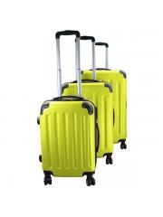 Holiday 3 részes bőrönd szett lime zöld