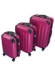 Holiday 3 részes bőrönd szett pink