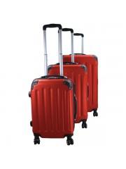 Holiday 3 részes bőrönd piros