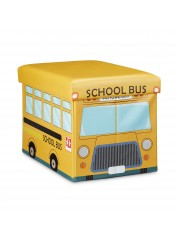 Iskolabuszos gyerek tárolós puff, ülőke