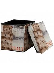 Italy összecsukható textil puff, tárolós ülőke