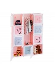 Jago24 Abélia színes gyermek mobil tároló gardrób szekrény 00400