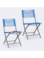Jago24 Összecsukható kerti szék kék 10035906