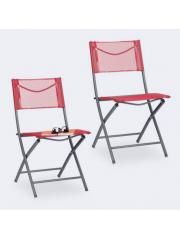 Jago24 Összecsukható kerti szék piros 10035907