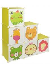 Alan gyerek mobil gardrób szekrény zöld