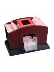 Tsideen Kártyakeverő gép elektromos fa mintázattal 4 paklihoz 10019510