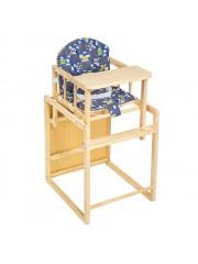 Jago24 2in1 etetőszék és asztal egyben kék 00002