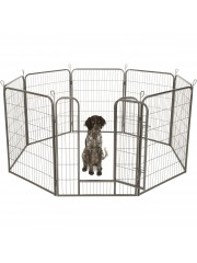 Point4u Kutya, macska, kisállat kennel, ketrec 8 szögletes 100cm magas 100100547