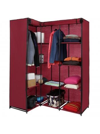 KOANA sarokszekrény, mobil gardrób ruhás szekrény