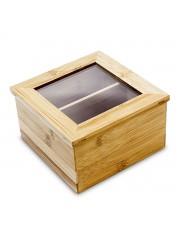 Point4u Lakkozott bambusz teásdoboz (2 fakkos) 100100557
