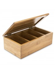 Point4u Lakkozott bambusz teásdoboz (4 fakk) 100100559