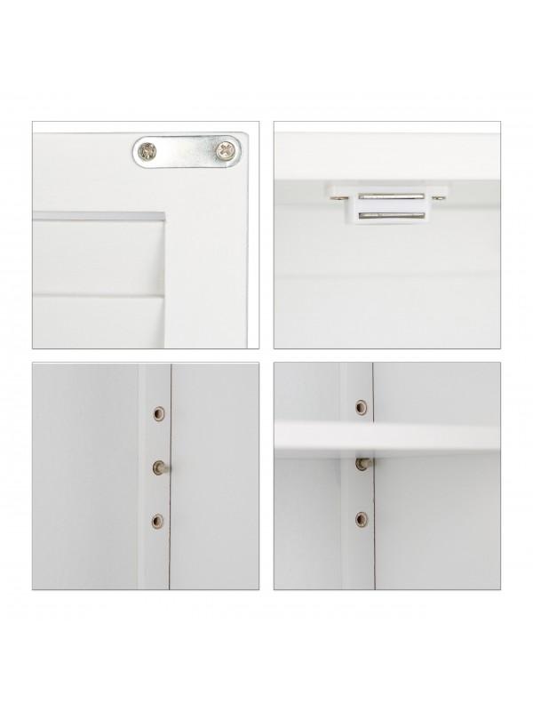 Lamell fürdőszoba fali szekrény fehér - Fürdőszoba bútor  TipTopOtthon webáruház