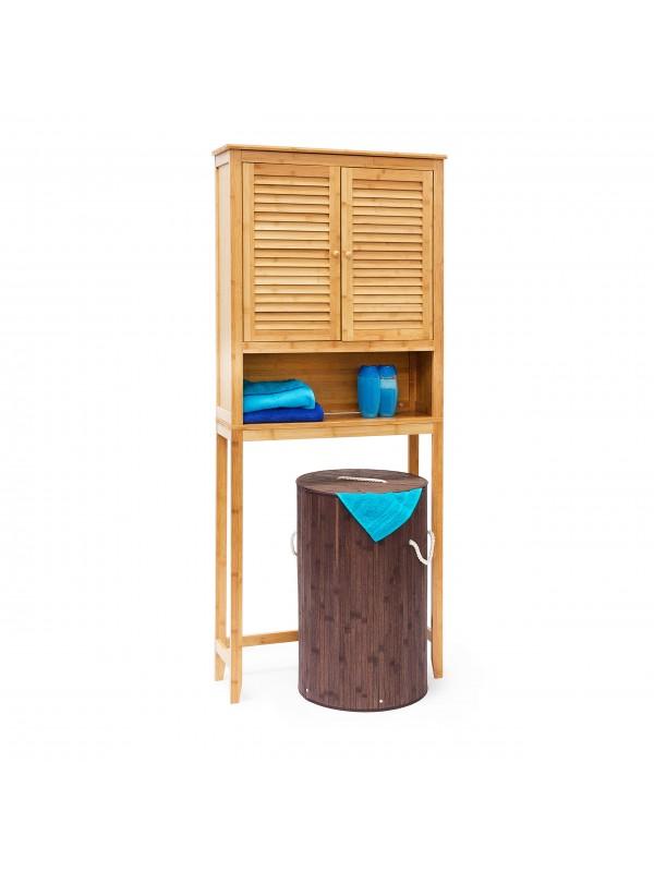 Lamell fürdőszoba szekrény, mosógép szekrény natúr - Fürdőszoba ...