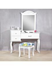 Point4u Latina XXL sminkasztal, fésülködőasztal tükörrel és ülőkével 100100587